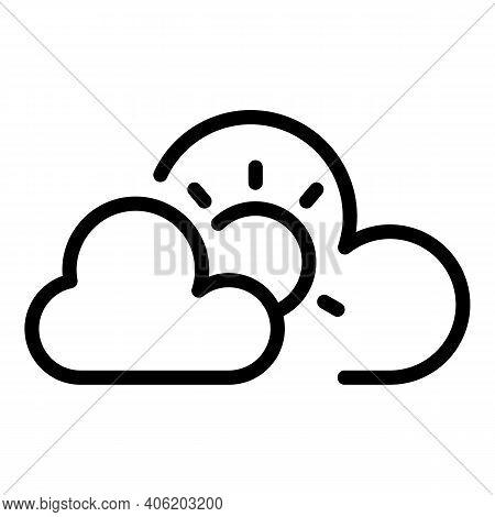 Season Cloudy Sky Icon. Outline Season Cloudy Sky Vector Icon For Web Design Isolated On White Backg