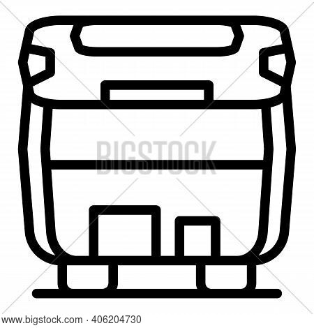 Empty Car Trunk Icon. Outline Empty Car Trunk Vector Icon For Web Design Isolated On White Backgroun