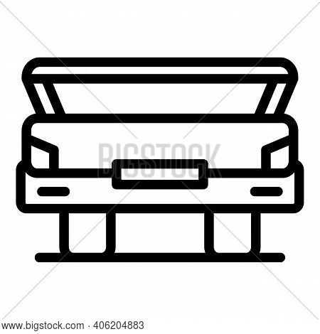 Open Vehicle Trunk Icon. Outline Open Vehicle Trunk Vector Icon For Web Design Isolated On White Bac