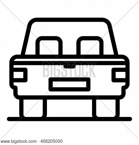 Car Trunk Door Icon. Outline Car Trunk Door Vector Icon For Web Design Isolated On White Background