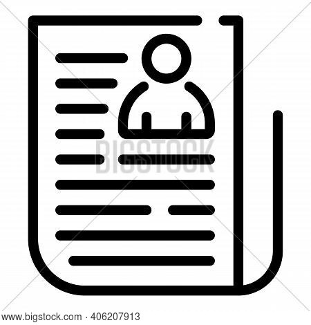 Newspaper Icon. Outline Newspaper Vector Icon For Web Design Isolated On White Background