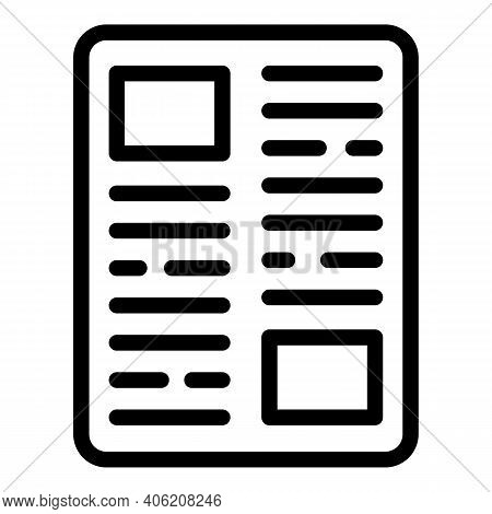 Bundle Newspaper Icon. Outline Bundle Newspaper Vector Icon For Web Design Isolated On White Backgro