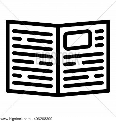 Article Newspaper Icon. Outline Article Newspaper Vector Icon For Web Design Isolated On White Backg