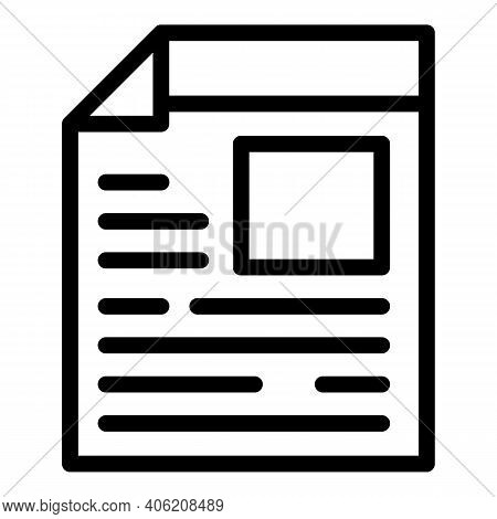 Heap Newspaper Icon. Outline Heap Newspaper Vector Icon For Web Design Isolated On White Background