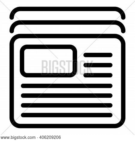 Publication Newspaper Icon. Outline Publication Newspaper Vector Icon For Web Design Isolated On Whi