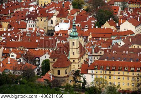 Prague, Czech - April 24, 2012: This Is A View Of The Church Of Our Lady Victorious And The Infant J