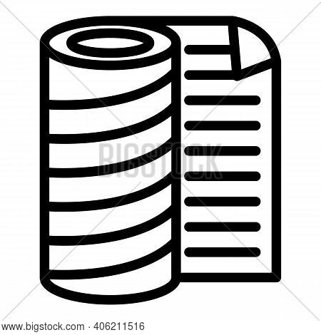 Builder Roof Protection Icon. Outline Builder Roof Protection Vector Icon For Web Design Isolated On