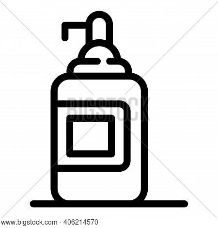 Soap Dispenser Icon. Outline Soap Dispenser Vector Icon For Web Design Isolated On White Background