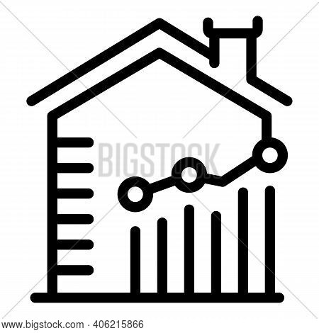 Leasing House Property Investments Icon. Outline Leasing House Property Investments Vector Icon For
