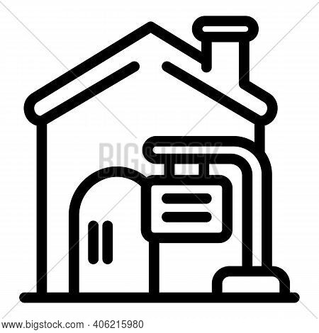 Village House Property Investments Icon. Outline Village House Property Investments Vector Icon For