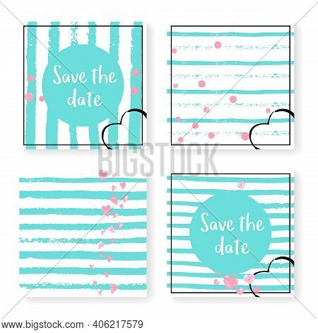 Glamour Sequins. Save Date Brochure Set. Stripe Nursery Offer. Turquoise Minimal Print. Pink Vintage