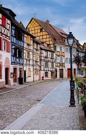 Beautiful View Of Colorful Romantic City Colmar, France, Alsace . Europe