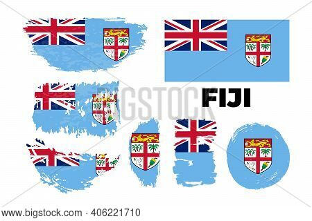 Flag Of Fiji The Illustration Vector On A White Background