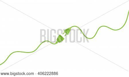 Electric Plug And Outlet, Pugging In Or Unplugging Power Cord Vector Illustration