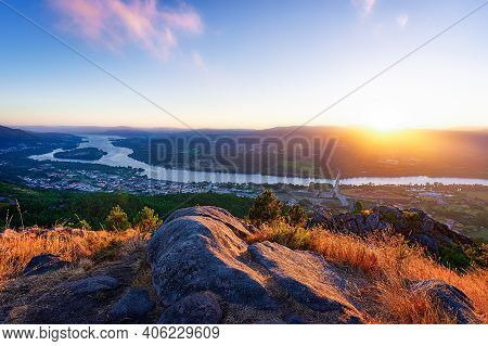 View From Mirador Do Cervo Overlook In Portugal