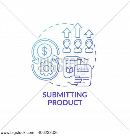 Submitting Product Concept Icon. Co Creation Type Idea Thin Line Illustration. Client Rewards For Ad