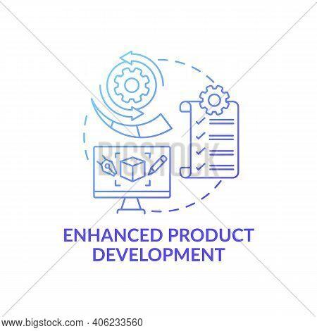 Enhanced Product Development Concept Icon. Open Innovation Benefit Idea Thin Line Illustration. Idea