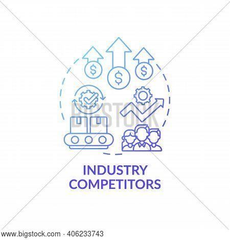 Industry Competitors Concept Icon. Competitive Rivalry Idea Thin Line Illustration. Strategy Develop