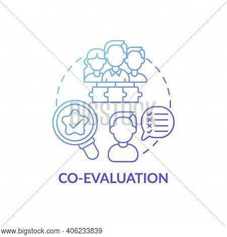 Co-evaluation Concept Icon. Co-production Element Idea Thin Line Illustration. Co-assessment. Engagi