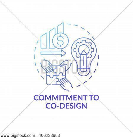 Commitment To Co-design Concept Icon. Condition For Co-design Idea Thin Line Illustration. Process I