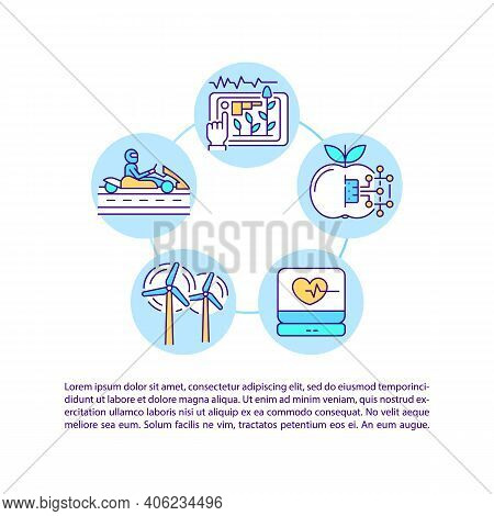 Displaying Data Visual Forms Concept Icon With Text. Ppt Page Vector Template. Multi Level Customer