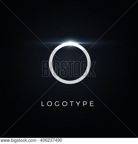Futurism Style Letter O. Minimalist Type For Modern Futuristic Logo, Elegant Cyber Tech Monogram, Di