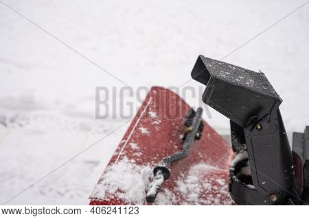 Snow Blower Is Ready To Blow Snow Through The Chute And Out Of Your Driveway