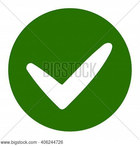 Approve Icon With Flat Style. Isolated Vector Approve Icon Illustrations, Simple Style.