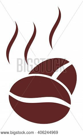 Cacao Aroma Icon With Flat Style. Isolated Vector Cacao Aroma Icon Image, Simple Style.