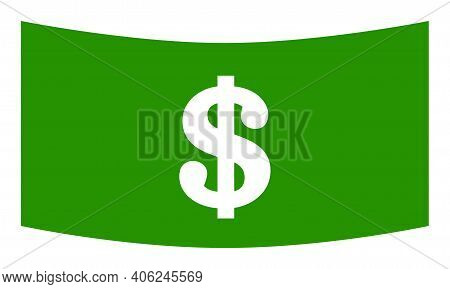 Dollar Banknote Icon With Flat Style. Isolated Vector Dollar Banknote Icon Image, Simple Style.
