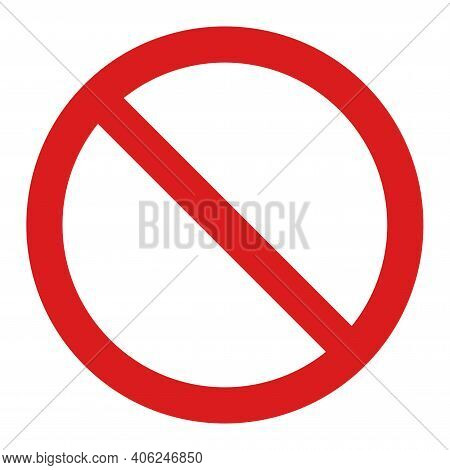 Restricted Icon With Flat Style. Isolated Vector Restricted Icon Image, Simple Style.