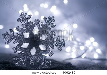Icy Winter Snowflake