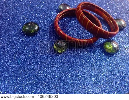 Beautiful Lakh Bangle Famous In The Bihar State In India