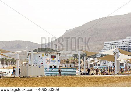 Beach On The Dead Sea. Dead Sea Israel, Dead Sea Coast