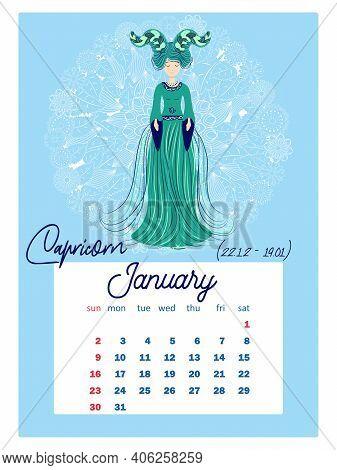 2022 Astrology Calendar.Horoscope Vertical Vector Photo Free Trial Bigstock