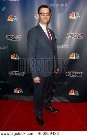 NEW YORK-SEP 16: Magician Derek Hughes attends the America's Got Talent Season 10 Finale taping at Radio City Music Hall on on September 16, 2015 in New York City.