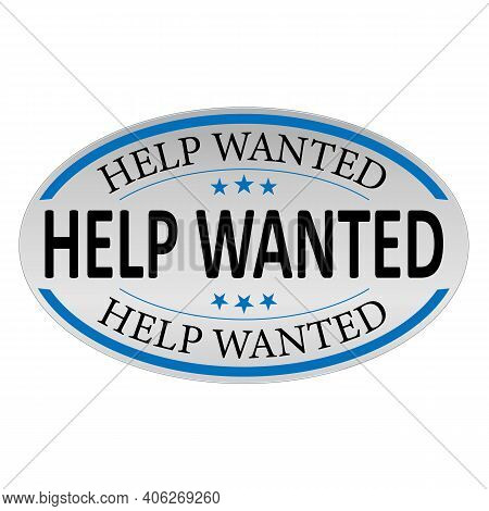 Help Wanted Sign, Emblem, Label, Badge, Sticker. Help Wanted Paper Origami Speech Bubble. Help Wante