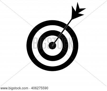 Vector Target Icon Focus Accuracy Shot Business Infographics  Shoot The Bullseye With An Arrow. Aimi