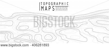Topographic Map Background. Grid Map. Contour Map Vector. Business Concept. Abstract Vector Illustra