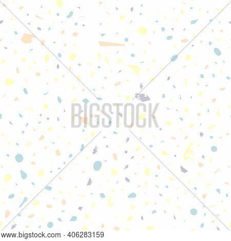 Terrazzo Seamless Pattern. Pastel Classic Flooring