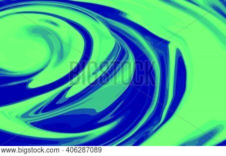 Abstract Duotone Liquid Marble Texture Background. Trendy Agate Marbling Design With Natural Luxury