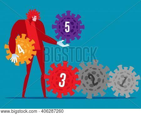 Viruses That Evolved. Increasing The Level Of The Virus