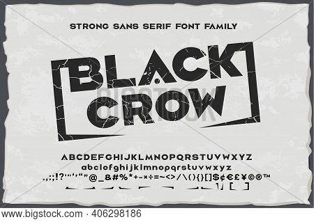 Black Crow. Strong Vintage Sans Serif Font