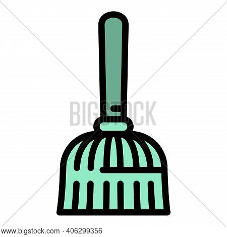 Broom Icon. Outline Broom Vector Icon For Web Design Isolated On White Background