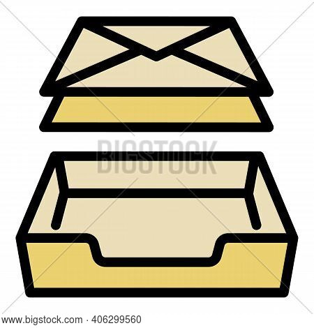 Postman Box Icon. Outline Postman Box Vector Icon For Web Design Isolated On White Background
