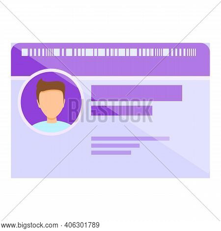 Id Card Vip Icon. Cartoon Of Id Card Vip Vector Icon For Web Design Isolated On White Background