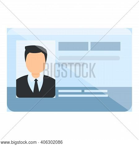 Id Card Membership Icon. Cartoon Of Id Card Membership Vector Icon For Web Design Isolated On White
