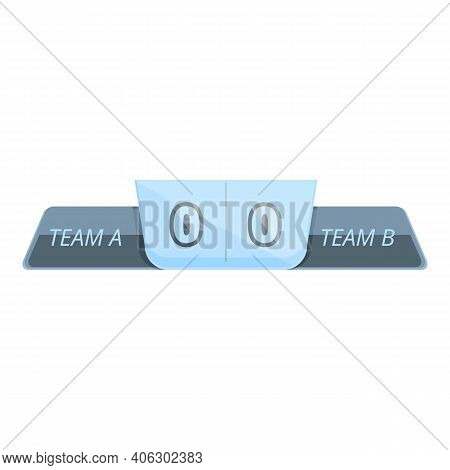 Result Scoreboard Icon. Cartoon Of Result Scoreboard Vector Icon For Web Design Isolated On White Ba