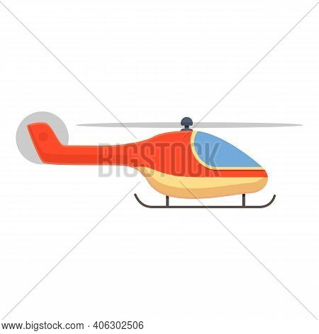 Force Rescue Helicopter Icon. Cartoon Of Force Rescue Helicopter Vector Icon For Web Design Isolated