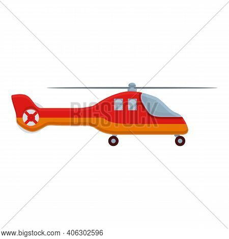 Aerospace Rescue Helicopter Icon. Cartoon Of Aerospace Rescue Helicopter Vector Icon For Web Design